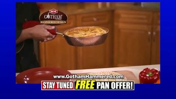 Gotham Steel Hammered Collection TV Spot, 'Reviews: Free Pan' - Thumbnail 6