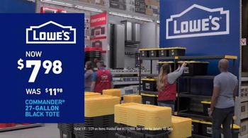 Lowe's Store & Save Event TV Spot, 'Organizing Done Right: Commander Tote' - Thumbnail 6