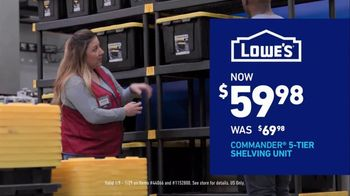 Lowe's Store & Save Event TV Spot, 'Organizing Done Right: Commander Tote' - Thumbnail 9