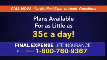 Select Advisor TV Spot, 'Life Insurance: Final Expenses'