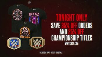 WWE Shop TV Spot, 'Holidays: 35% Off' - 6 commercial airings