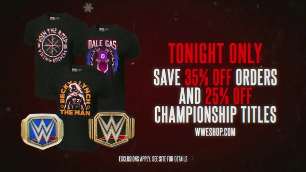 WWE Shop TV Commercial, 'Holidays: 35 Percent Off'