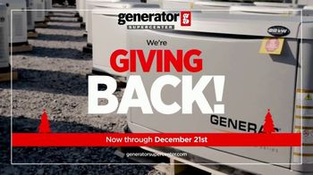 Generator Supercenter TV Spot, 'Giving Back: Two Free Gifts'