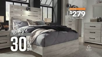 Ashley HomeStore New Year's Sale TV Spot, '30% Off: Queen Panel Beds' Song by Midnight Riot - Thumbnail 4