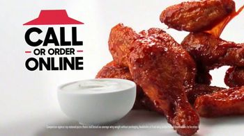 Pizza Hut TV Spot, 'Wings: Bigger and Better' - 1168 commercial airings