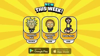 Pocket Mortys TV Spot, 'New Avatars: Spacesuit Rick, Spacesuit Morty, Snake Morty' - 28 commercial airings