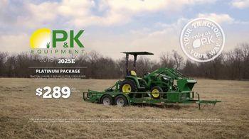 P&K Equipment TV Spot, 'George: John Deere 3025E Platinum Package' - Thumbnail 4