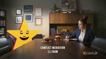 Carl's Jr. Spicy Western Bacon Cheeseburger TV Spot, 'Mediation' - Thumbnail 2