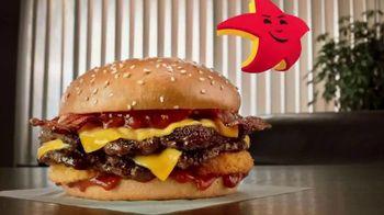 Carl's Jr. Spicy Western Bacon Cheeseburger TV Spot, 'Mediation' - Thumbnail 3