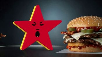 Carl's Jr Spicy Western Bacon Cheeseburger TV Spot, 'Conflicted' - Thumbnail 6