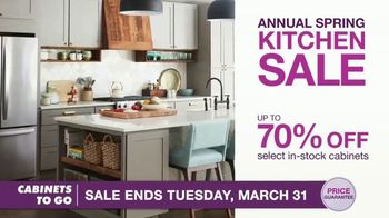 Cabinets To Go Annual Spring Kitchen Sale TV Spot, 'Recent Discovery' Featuring Bob Vila - Thumbnail 7