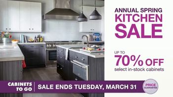 Cabinets To Go Annual Spring Kitchen Sale TV Spot, 'Recent Discovery' Featuring Bob Vila - 34 commercial airings