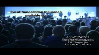 Zain Jeewanjee Insurance Company TV Spot, 'Event Cancellation Insurance' - Thumbnail 2