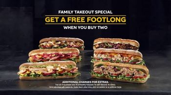 Subway Family Takeout Special TV Spot, 'Still Serving' - Thumbnail 6
