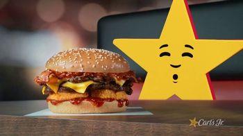 Carl's Jr. Spicy Western Bacon Cheeseburger TV Spot, 'Inner Struggle' - Thumbnail 1