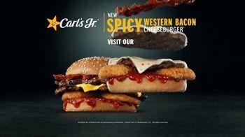 Carl's Jr. Spicy Western Bacon Cheeseburger TV Spot, 'Inner Struggle' - Thumbnail 10