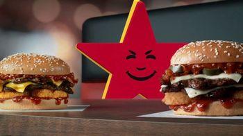Carl's Jr. Spicy Western Bacon Cheeseburger TV Spot, 'Inner Struggle' - Thumbnail 5