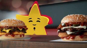 Carl's Jr. Spicy Western Bacon Cheeseburger TV Spot, 'Inner Struggle' - Thumbnail 7
