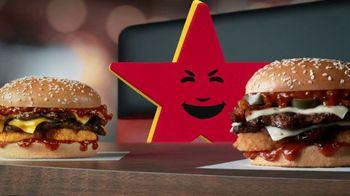 Carl's Jr. Spicy Western Bacon Cheeseburger TV Spot, 'Inner Struggle' - Thumbnail 8