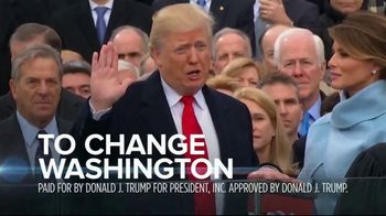 Donald J. Trump for President TV Spot, 'Changing Washington' - 5 commercial airings