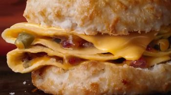 Hardee's Southwest Omelet Biscuit and Burrito TV Spot, 'Say Good Morning' - Thumbnail 4