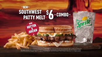 Hardee's Southwest Patty Melt TV Spot, 'Yippee-Ki-Yay' - Thumbnail 7
