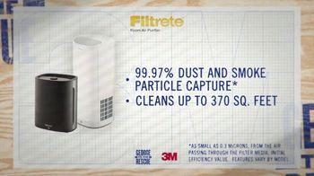 Filtrete Room Air Purifier TV Spot, \'3M: Capturing Dust and Smoke\'