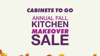 Cabinets To Go Annual Fall Kitchen Makeover Sale TV Spot, 'Up to 70% Off' - Thumbnail 1