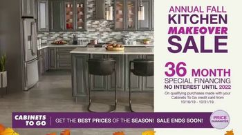 Cabinets To Go Annual Fall Kitchen Makeover Sale TV Spot, 'Up to 70% Off' - Thumbnail 4