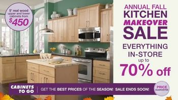 Cabinets To Go Annual Fall Kitchen Makeover Sale TV Spot, 'Up to 70 Percent Off' - Thumbnail 2