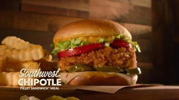 Zaxby's Southwest Chipotle Fillet Sandwich and Smokehouse Cheddar BBQ Meals TV Spot. 'Jumanji: Smoky Bacon' - Thumbnail 1