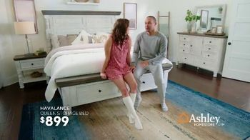 Ashley HomeStore President's Day Sale TV Spot, 'Havalance Queen Storage Bed' Song by Midnight Riot