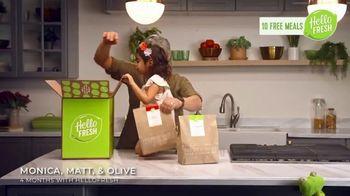 HelloFresh Valentine's Flash Sale TV Spot, 'Monica, Matt & Olive: 10 Free Meals' - Thumbnail 2