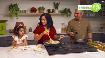 HelloFresh Valentine's Flash Sale TV Spot, 'Monica, Matt & Olive: 10 Free Meals'
