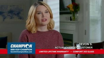 Champion Windows TV Spot, 'More Comfortable: Buy Two, Get One Free'