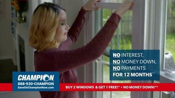Champion Windows TV Spot, 'More Comfortable: Buy Two, Get One Free' - Thumbnail 4
