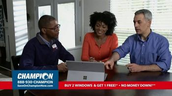 Champion Windows TV Spot, 'More Comfortable: Buy Two, Get One Free' - Thumbnail 5