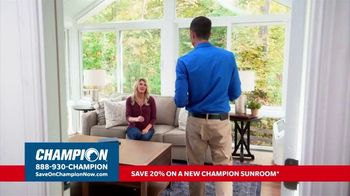 Champion Windows TV Spot, 'Sunroom: Liveable Space' - Thumbnail 1
