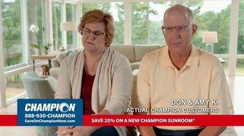 Champion Windows TV Spot, 'Sunroom: Liveable Space' - Thumbnail 3