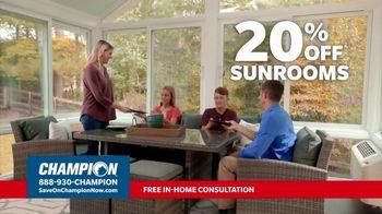 Champion Windows TV Spot, 'Sunroom: Liveable Space' - Thumbnail 4