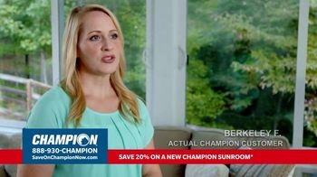 Champion Windows TV Spot, 'Sunroom: Liveable Space' - Thumbnail 5