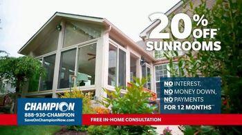 Champion Windows TV Spot, 'Sunroom: Liveable Space' - Thumbnail 6
