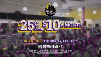 Planet Fitness TV Spot, 'Tons of Equipment: 25 Cents Down, $10 a Month' - Thumbnail 6