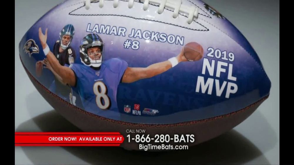 Big Time Bats TV Commercial, 'Lamar Jackson 2019 NFL MVP Art Football'