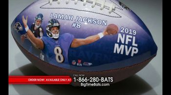 Big Time Bats TV Spot, 'Lamar Jackson 2019 NFL MVP Art Football' - 21 commercial airings