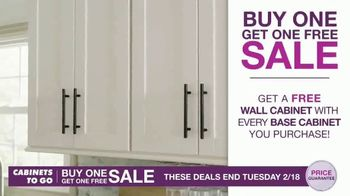 Cabinets To Go Buy One, Get One Sale TV Spot, 'Free 3D Design' - Thumbnail 2