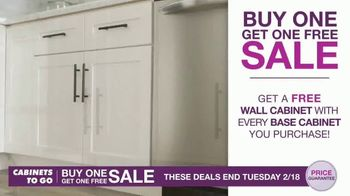Cabinets To Go Buy One, Get One Sale TV Spot, 'Free 3D Design' - Thumbnail 3