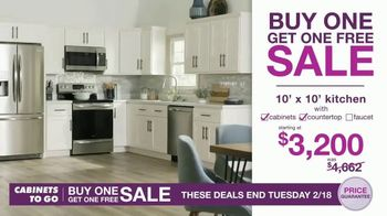 Cabinets To Go Buy One, Get One Sale TV Spot, 'Free 3D Design' - Thumbnail 5