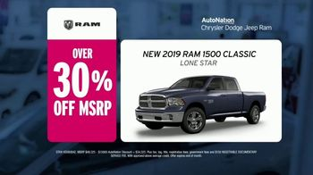 AutoNation Weekend of Wow TV Spot, 'Priced to Wow: 2019 Ram 1500' - 11 commercial airings