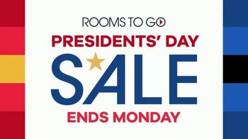 Rooms to Go Presidents Day Sale TV Spot, 'Extra Savings and Bonus Coupons' - Thumbnail 2